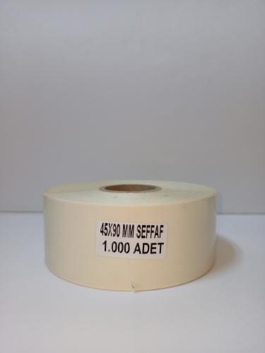 Şeffaf Etiket Koruma 45x90 mm