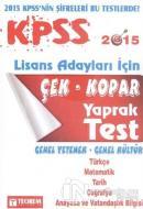 2015 KPSS Lisans Tam İsabet Çek Kopar Yaprak Test