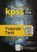 2016 KPSS Genel Kültür Genel Yetenek Yaprak Test