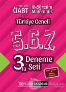 2019 KPSS ÖABT İlköğretim Matematik Öğretmenliği Türkiye Geneli Deneme (5.6.7) 3'lü Deneme Set