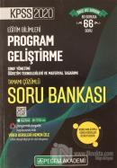 2020 KPSS Eğitim Bilimleri Tamamı Çözümlü Modüler Soru Bankası - Eğitim Bilimleri Program Geliştirme