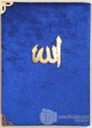 Cep Boy Kadife Kaplı Yasin Kitabı Metal Allah Lafızlı (Farklı Renklerde) Yas 110 (Ciltli)