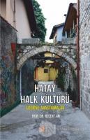 Hatay Halk Kültürü Üzerine Araştırmalar