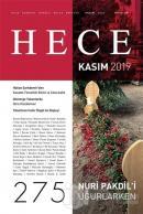 Hece Aylık Edebiyat Dergisi Sayı: 275 Kasım 2019