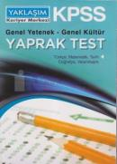 KPSS Genel Yetenek - Genel Kültür Yaprak Test (Lisans)