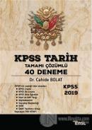 KPSS Tarih Tamamı Çözümlü 40 Deneme