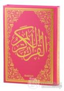 Kur'an-ı Kerim Pembe Cilt (Orta Boy - Sesli) (Ciltli)