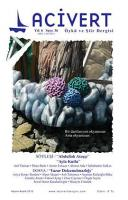 Lacivert Öykü ve Şiir Dergisi Sayı: 36
