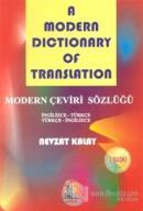 Modern Dictionary Of Translation Modern Çeviri Sözlüğü İngilizce - Türkçe Türkçe - İngilizce