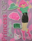 Princess Top Stickers (Lila)