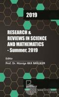 Research and Reviews In Science and Mathematics - Summer 2019