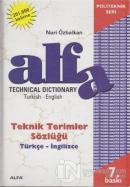 Technical Dictionary Teknik Terimler Sözlüğü Turkish - English / Türkçe - İngilizce (Ciltli)