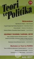 Teori ve Politika Dergisi Sayı: 73 Kış 2017
