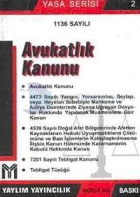 1136 Sayılı Avukatlık Kanunu