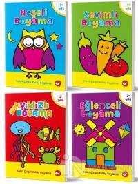 2-4 Yaş Boyama Kitapları Seti (4 Kitap Takım)