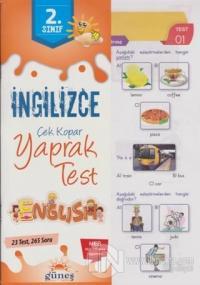 2. Sınıf İngilizce Çek Kopar Yaprak Test