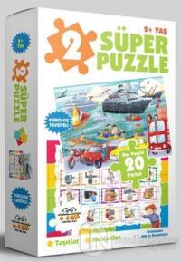 2 Süper Puzzle / Taşıtlar - Meslekler 2+ Yaş