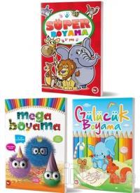 2+ Yaş Boyama Kitapları Set (3 Kitap Takım)