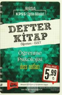 2016 KPSS Eğitim Bilimleri Defter Kitap Öğrenme Psikolojisi Ders Notları