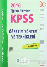 2016 KPSS Eğitim Bilimleri Öğretim Yöntem ve Teknikleri Çek Kopar Test