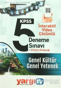 2016 KPSS Genel Kültür Genel Yetenek İnteraktif Video Çözümlü 5 Deneme Sınavı