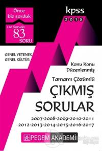 2018 KPSS Genel Yetenek Genel Kültür Konu Konu Düzenlenmiş Tamamı Çözümlü 2007 – 2017 Çıkmış Sorular
