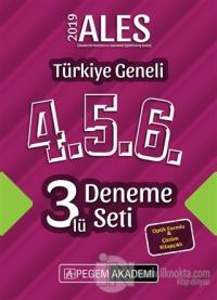 2019 ALES Türkiye Geneli Deneme (4.5.6) 3'lü Deneme Seti