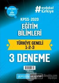 2020 KPSS Eğitim Bilimleri Türkiye Geneli  (1.2.3) 3'lü Deneme Seti