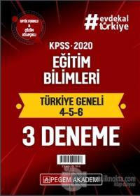 2020 KPSS Eğitim Bilimleri Türkiye Geneli Deneme (4.5.6) 3'lü Deneme Seti