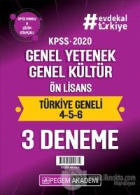 2020 KPSS Genel Yetenek Genel Kültür Ön Lisans Türkiye Geneli Deneme (4.5.6) 3'lü Deneme Seti