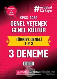 2020 KPSS Genel Yetenek Genel Kültür Türkiye Geneli (1.2.3) 3'lü Deneme Seti