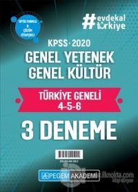 2020 KPSS Genel Yetenek Genel Kültür Türkiye Geneli Deneme (4.5.6) 3'lü Deneme Seti