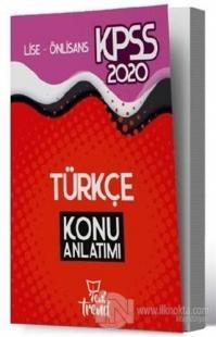 2020 KPSS Lise Önlisans Genel Yetenek Genel Kültür Türkçe Konu Anlatımı