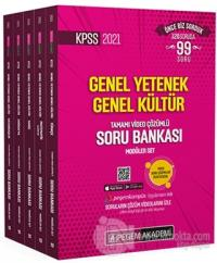 2021 KPSS Genel Yetenek Genel Kültür Tamamı Video Çözümlü Soru Bankası Modüler Set (5 Kitap Takım)