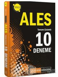 2022 ALES Tamamı Çözümlü 10 Deneme Kolektif