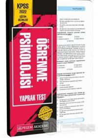 2022 KPSS Eğitim Bilimleri Öğrenme Psikolojisi Yaprak Test