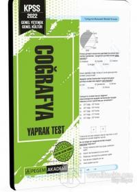 2022 KPSS Genel Yetenek Genel Kültür Coğrafya Yaprak Test