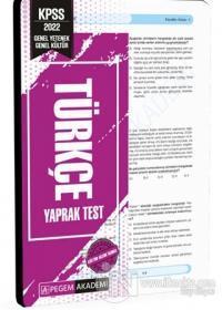 2022 KPSS Genel Yetenek Genel Kültür Türkçe Yaprak Test