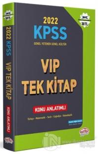 2022 KPSS Genel Yetenek - Genel Kültür VIP Tek Kitap Konu Anlatımlı