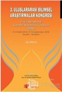 3. Uluslararası Bilimsel Araştırmalar Kongresi