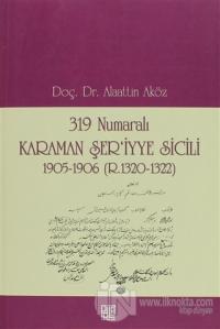 319 Numaralı Karaman Şer'iyye Sicili