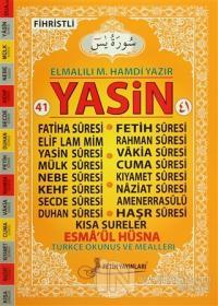 41 Yasin Türkçe Okunuş ve Mealleri Kod: F017 (Fihristli Cami Boy) - Turuncu Kapak