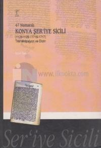 47 Numaralı Konya Şer'iye Sicili