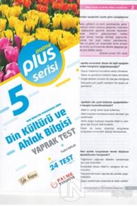 5. Sınıf Plus Serisi Din Kültürü ve Ahlak Bilgisi Yaprak Test Kolektif
