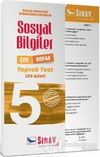 5. Sınıf Sosyal Bilgiler Çek Kopar Yaprak Test