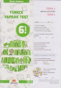 6.Sınıf Okula Yardımcı Türkçe Yaprak Test