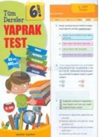 6.Sınıf Tüm Dersler Yaprak Test