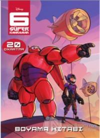 6 Süper Kahraman : Çıkartmalı Boyama Kitabı Kolektif