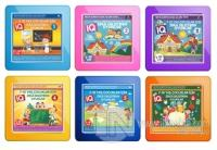 7-10 Yaş Çocuklar İçin IQ Zeka Geliştiren Oyunlar (6 Kitap Takım)