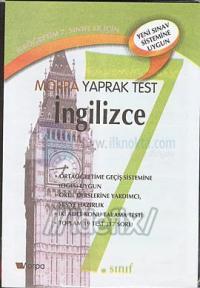 7. Sınıf İngilizce Yaprak Test